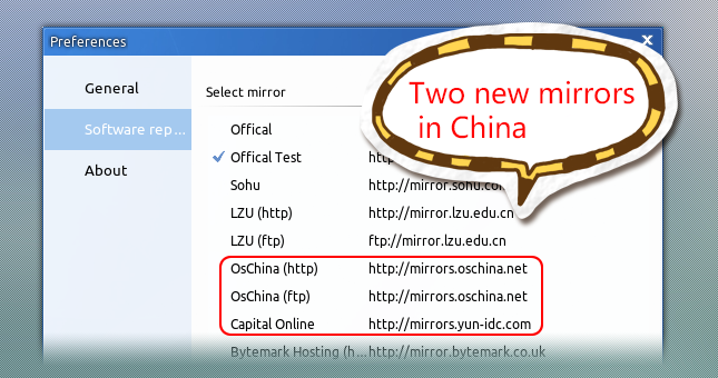 Two new mirrors in China are available