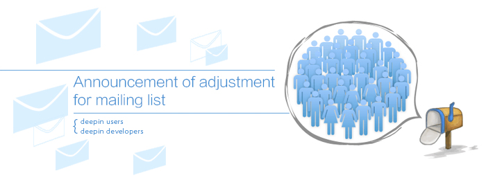 announcement of adjustment for mailing list