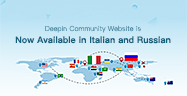 Deepin Community Website is Now Available in Italian and Russian
