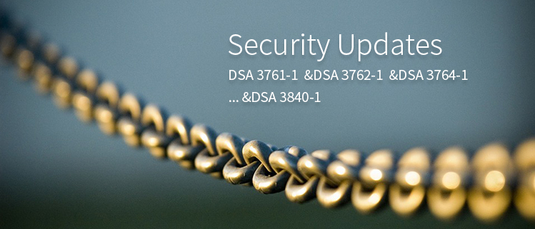 Security Updates (DSA 3761-1 &DSA 3762-1 &DSA 3764-1… &DSA 3840-1)
