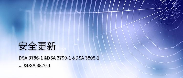 安全更新(DSA 3786-1 &DSA 3799-1 &DSA 3808-1… &DSA 3885-1)
