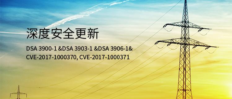 深度安全更新(DSA 3900-1 &DSA 3903-1 &DSA 3906-1& CVE-2017-1000370, CVE-2017-1000371)