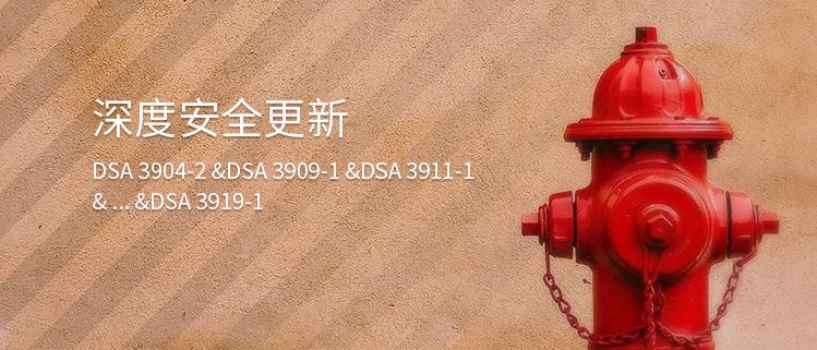 深度安全更新(DSA 3904-2 &DSA 3909-1 &DSA 3911-1& ...&DSA 3919-1)