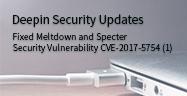 Deepin Güvenlik Güncelleştirmeleri —— Meltdown and Specter Güvenlik Güvenlik Açığı Onarıldı (CVE-2017-5754)(1)