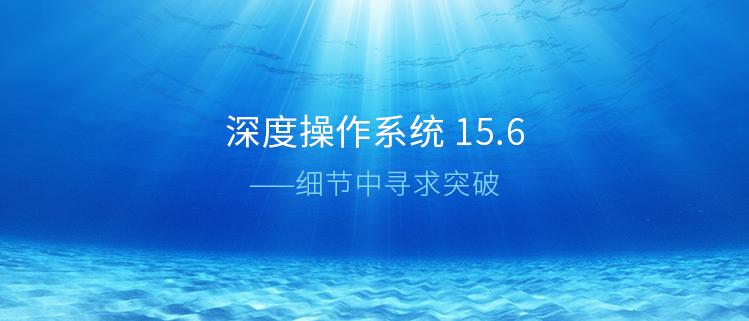 深度操作系统 15.6 —— 细节中寻求突破